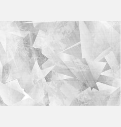 light grey grunge polygonal tech abstract vector image