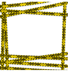 Limit yellow ribbon with the word sanction vector