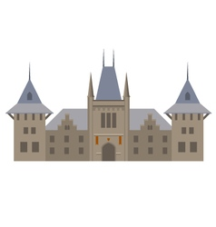 Medieval luxurious palace - castle with towers vector image