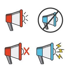 Megaphone icon vector