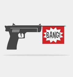 message gun vector image