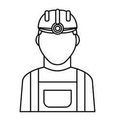 Miner icon outline style vector