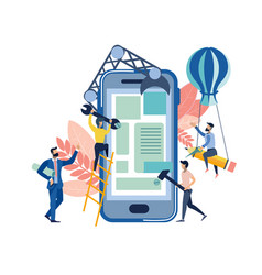 mobile application creation metaphor vector image