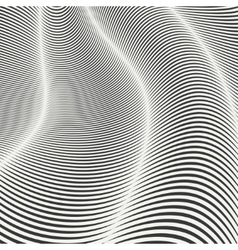 Mobious wave stripe Geometric line abstract vector