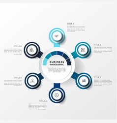 modern blue infographic template vector image