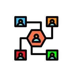 Network filled line icon vector
