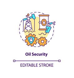 Oil security concept icon vector