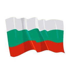 Political waving flag of bulgaria vector