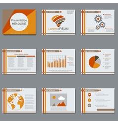 Presentation design template vector image