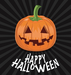 Pumpkin for Halloween on background vector