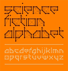 Science fiction font style vector