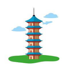 Seigantoji pagoda icon vector