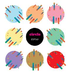 set of 9 circles design elements vector image