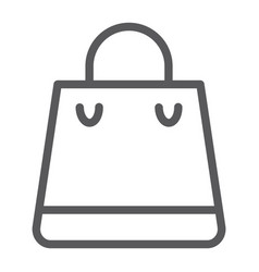 shopping bag line icon shop and buy package sign vector image