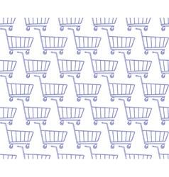 Shopping cart pattern vector image