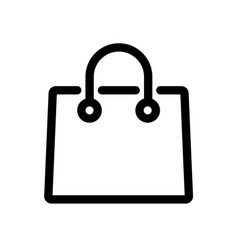 shopping paper bag pack icon outline style vector image