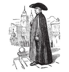 spanish priest vintage vector image