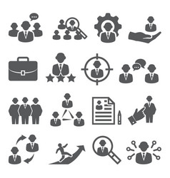 staff icons set on white background vector image
