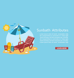 Sunbath summer time holiday vacation vector