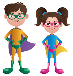 super kids asian vector image