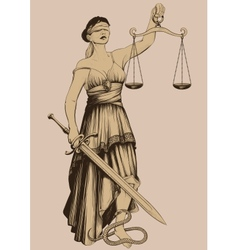 Symbol justice femida vector