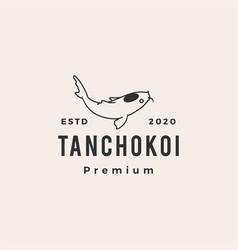 tancho koi fish hipster vintage logo icon vector image