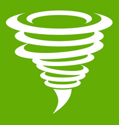 tornado icon green vector image