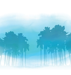 Watercolor palm trees 3005 vector