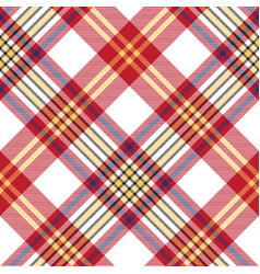 white red check seamless fabric texture vector image