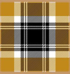 Yellow tartan plaid seamless pattern vector