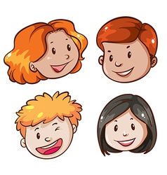 Faces of the office workers vector image vector image