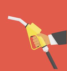 fuel pump in hand vector image vector image