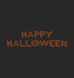 Happy halloween orange text monogram mockup vector image