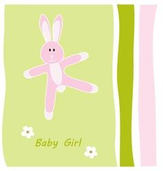 baby girl greeting card vector image