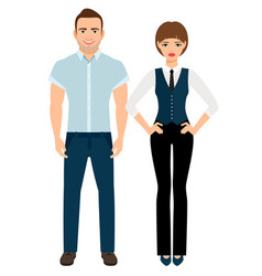 fashion elegant couple vector image vector image
