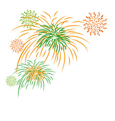firework independence day vector image vector image