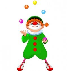 jjuggling clown vector image vector image