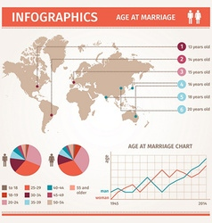 Marriage graph vector image