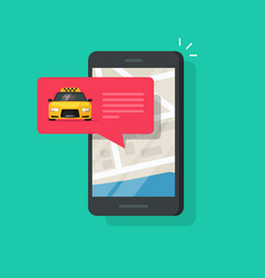online taxi service on mobile phone vector image