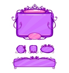 Beautiful girlish violet game user interface vector