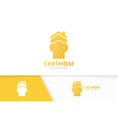 chef hat and real estate logo combination vector image vector image
