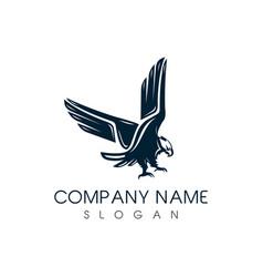 classic eagle logo vector image vector image