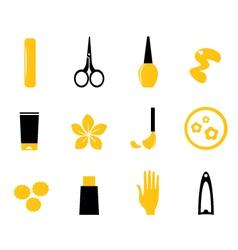 manicure cosmetics vector image vector image