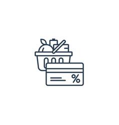 Food basket grocery order shop special offer bonus vector