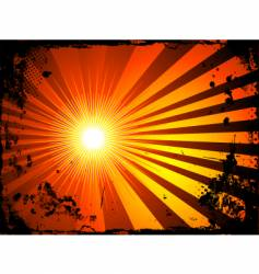 grunge starburst vector image vector image