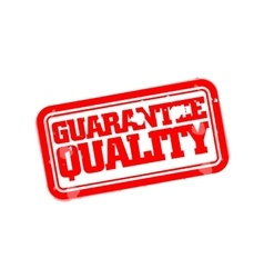Guarantee quality rubber stamp vector image vector image