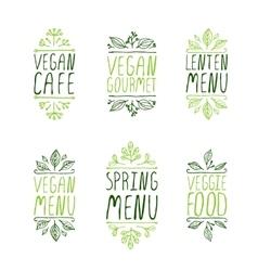 Hand-sketched typographic elements Restaurant vector image
