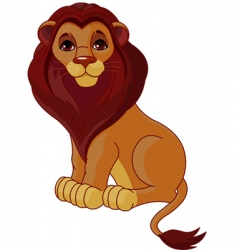 sitting lion vector image vector image