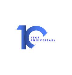 10 years anniversary celebration blue gradient vector