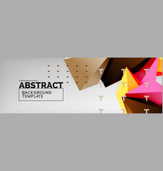 3d polygonal shape geometric background vector image
